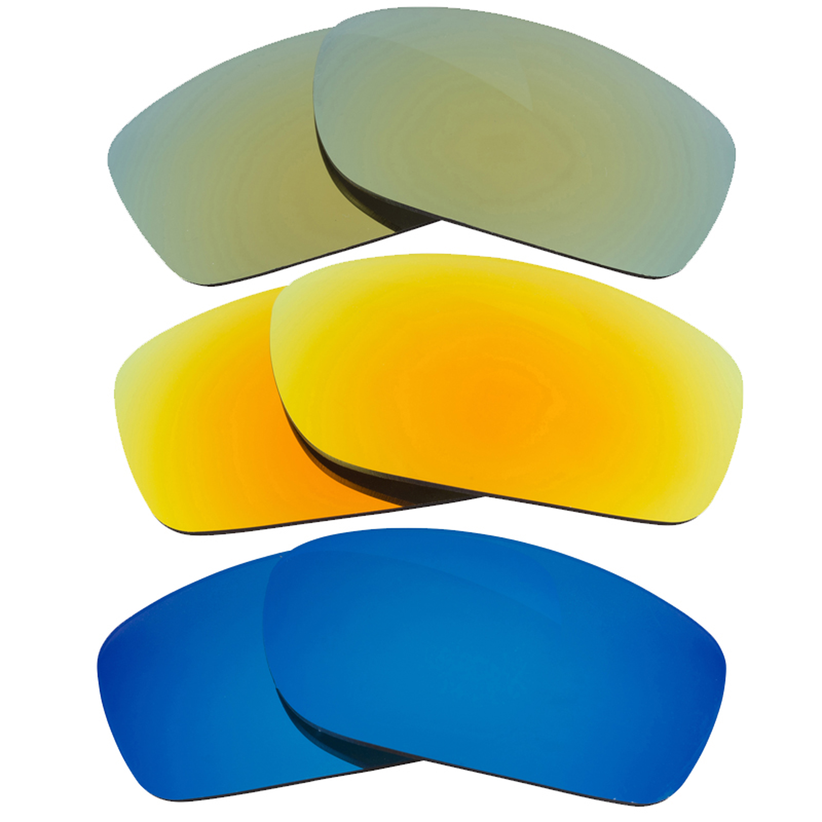 4f1848ab7c Details about FIVES SQUARED Replacement Lenses Yellow Blue Green by SEEK  fits OAKLEY