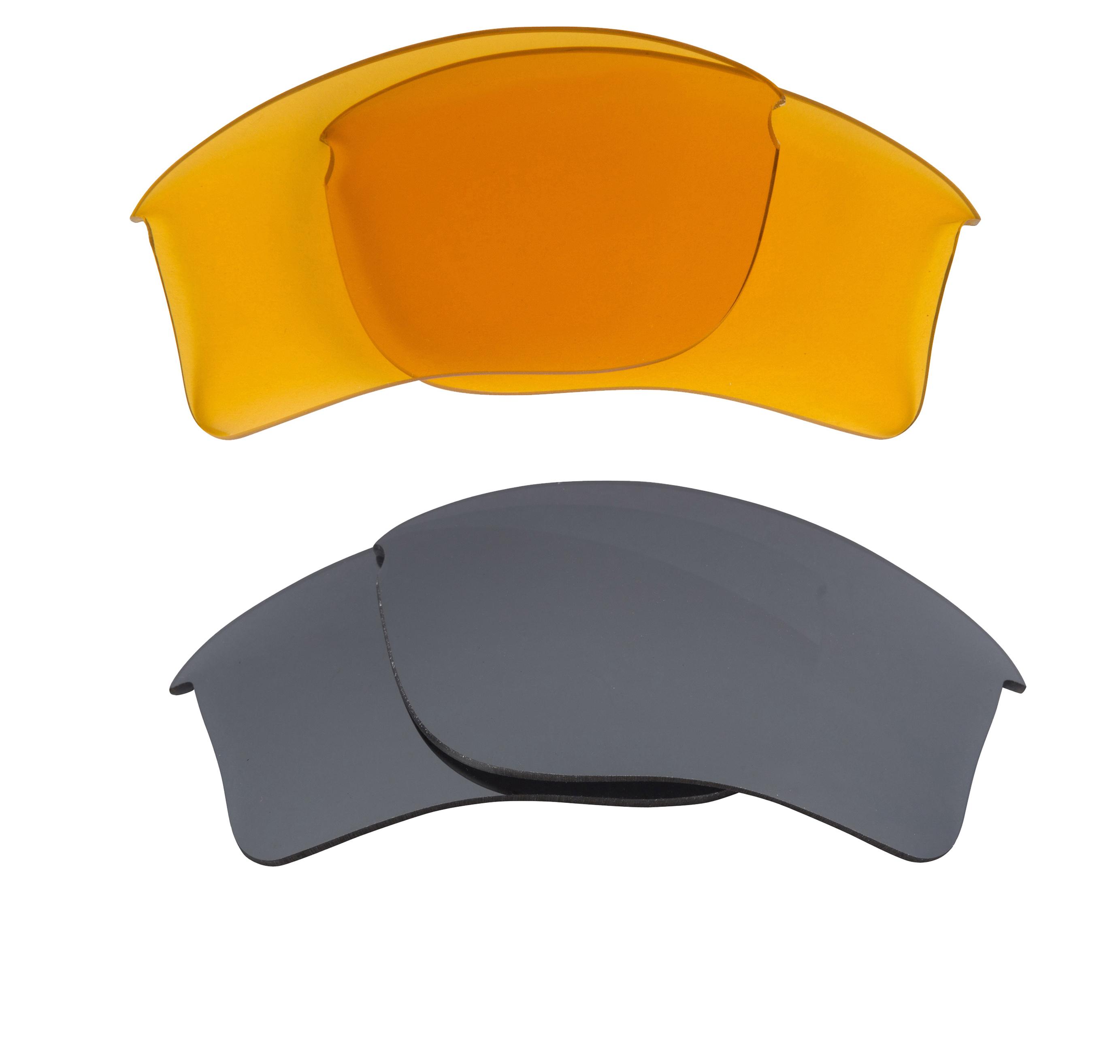 7db2cccaad6 Flak Jacket XLJ Replacement Lenses Hi Yellow   Silver by SEEK fits OAKLEY