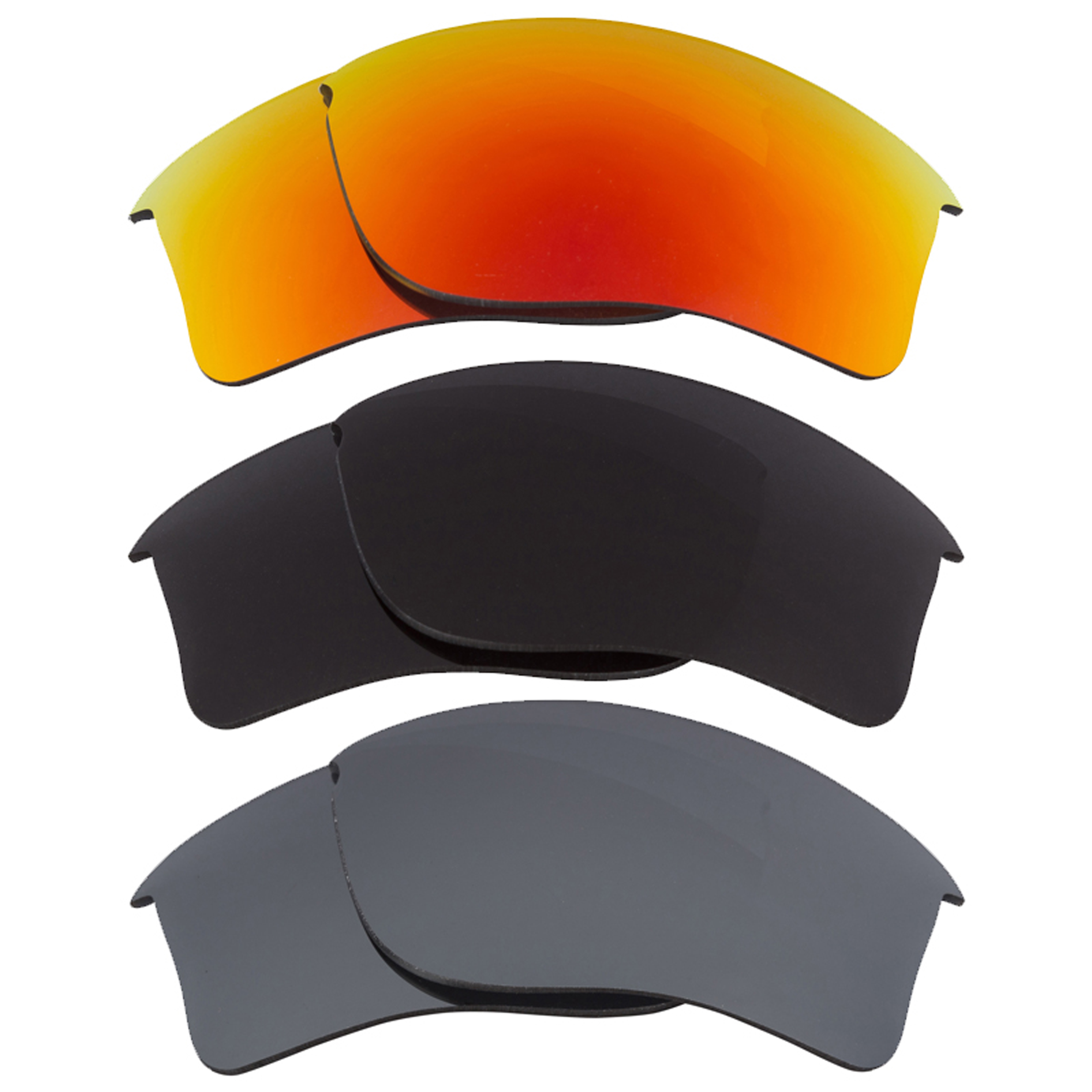 59dca2050e Details about Flak Jacket XLJ Replacement Lenses Grey Black Iridium   Red  by SEEK fits OAKLEY