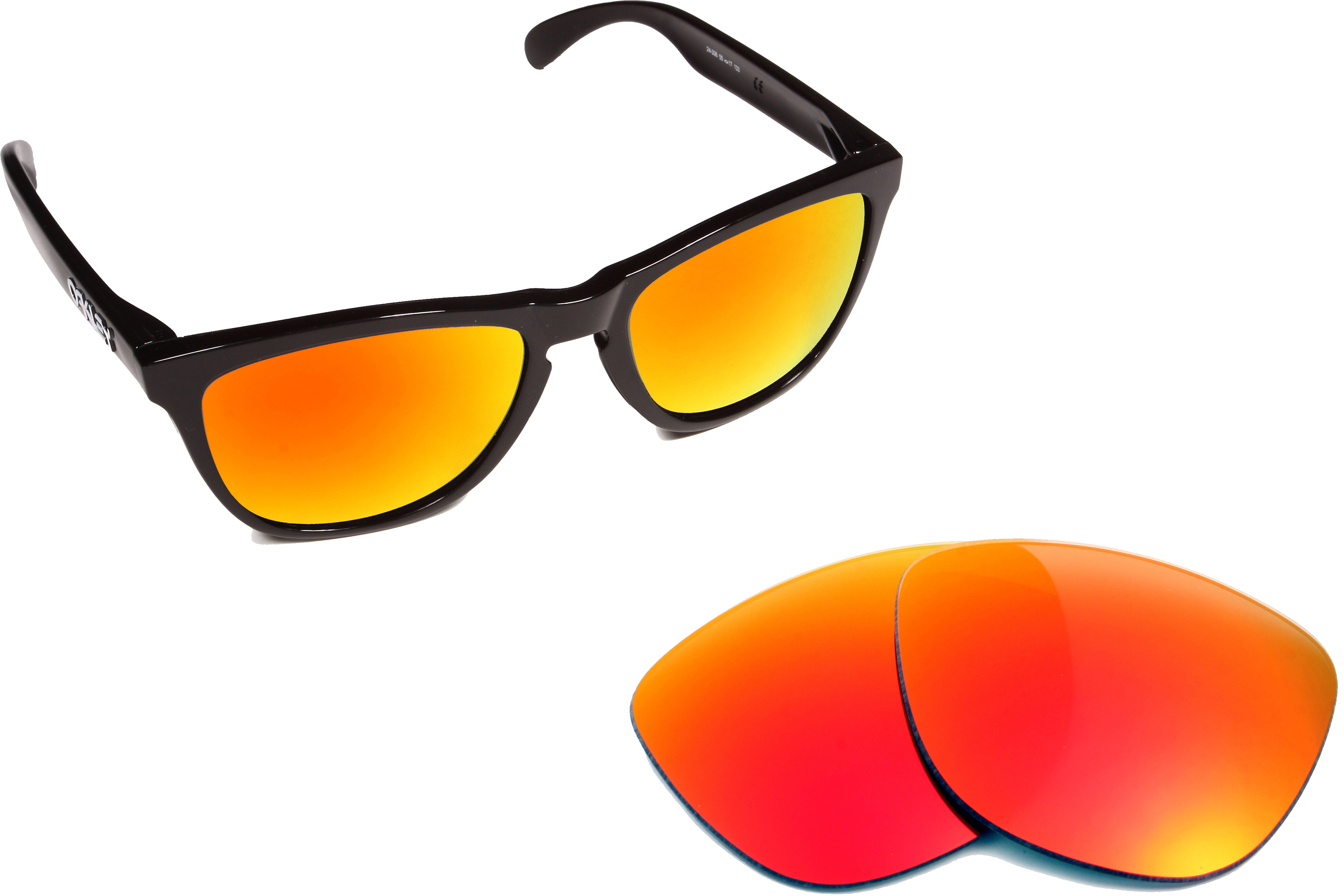 c4e30ea575 Frogskins Replacement Lenses Polarized Red Mirror by SEEK fits OAKLEY  Sunglasses