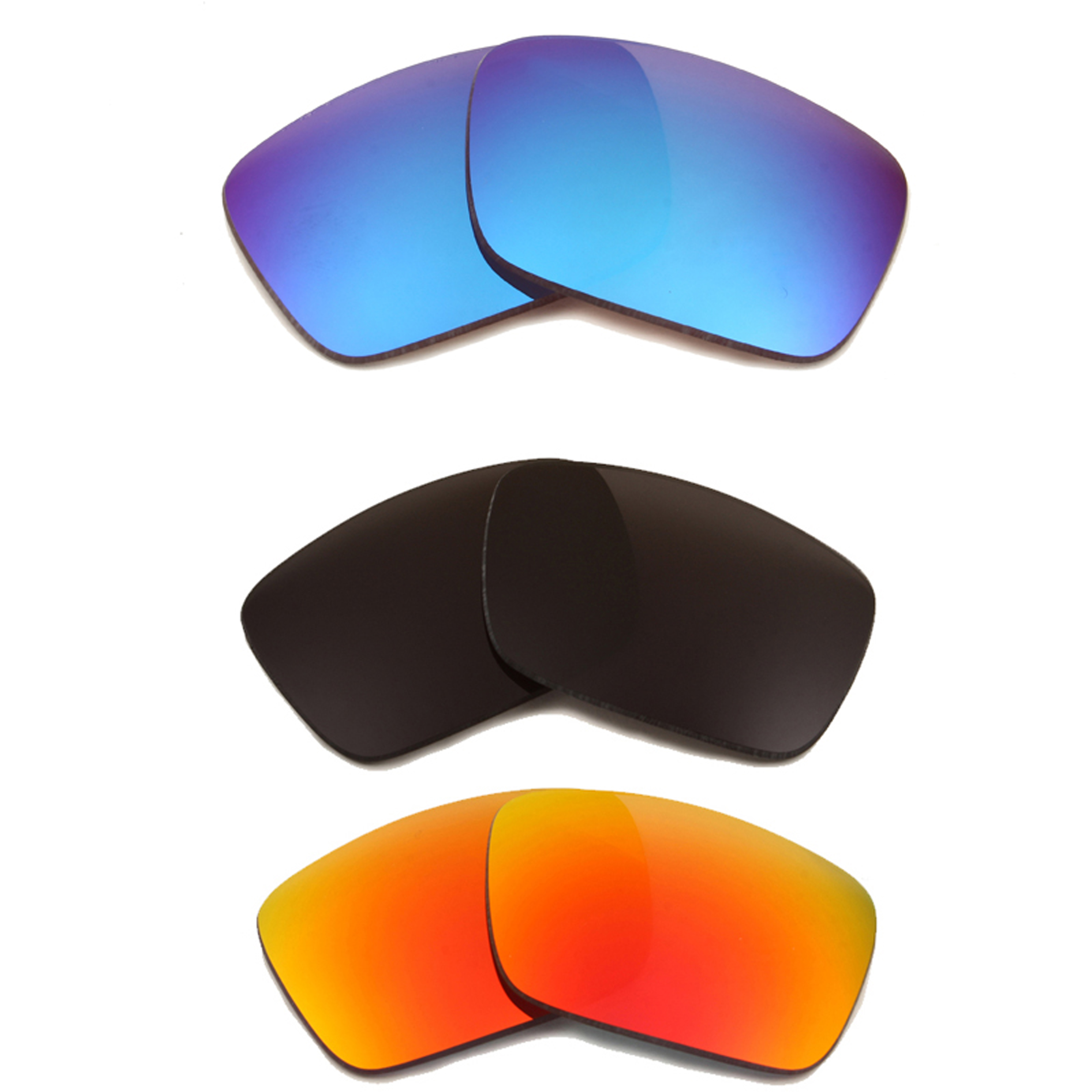 1ce87ee06f Details about FUEL CELL Replacement Lenses Black Red Blue by SEEK fits  OAKLEY Sunglasses