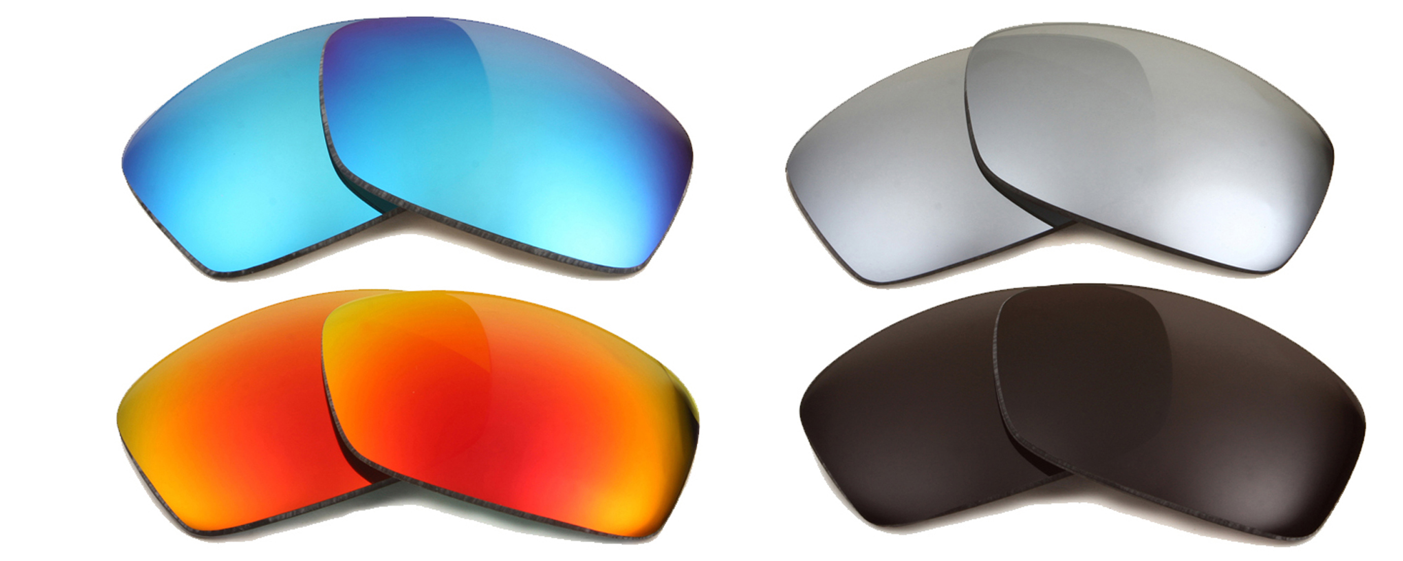 b410a21ace HIJINX Replacement Lenses Polarized Grey Blue Red   Silver by SEEK fits  OAKLEY
