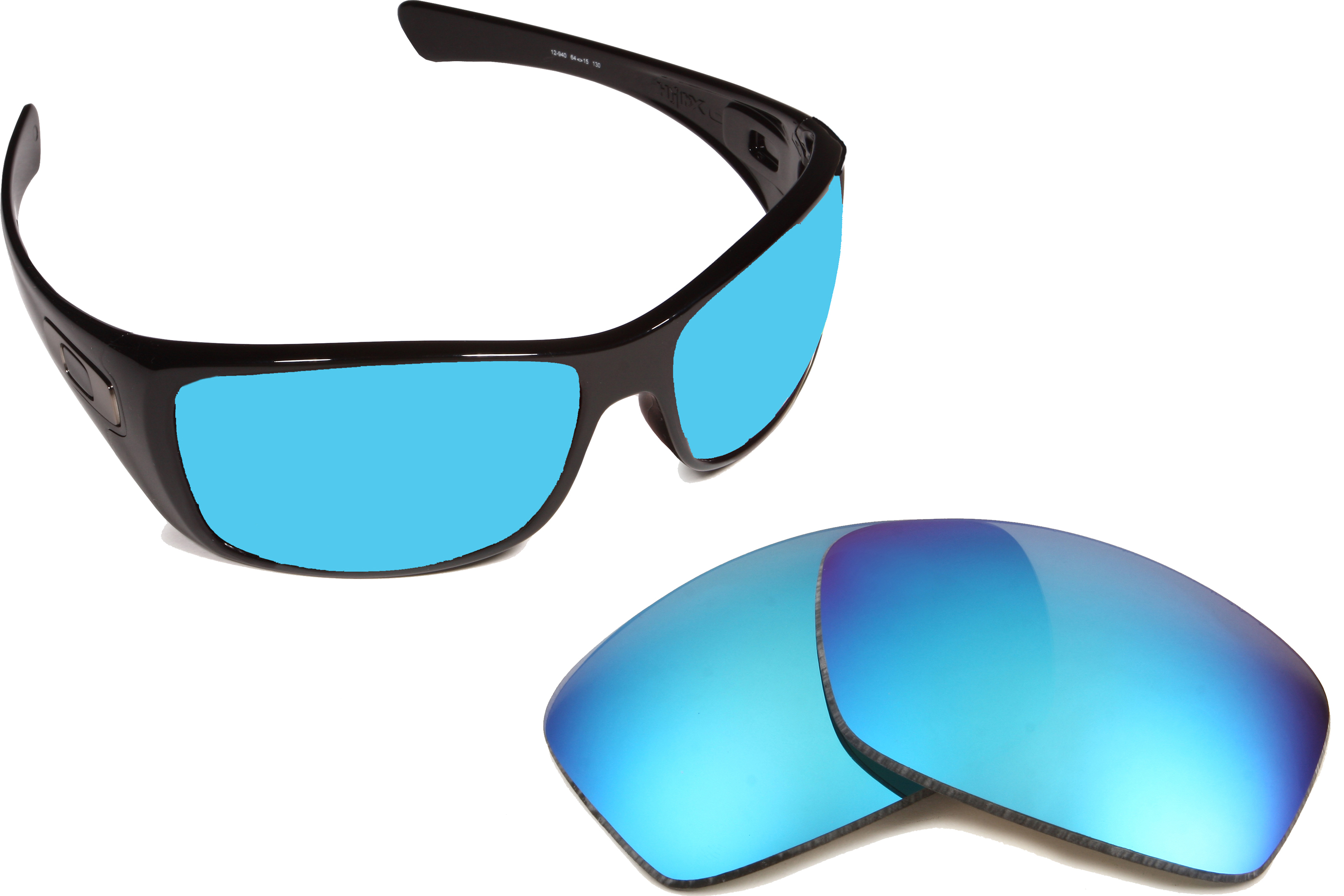 650502b1e98 Hijinx Replacement Lenses Polarized Blue Mirror by SEEK fits OAKLEY  Sunglasses