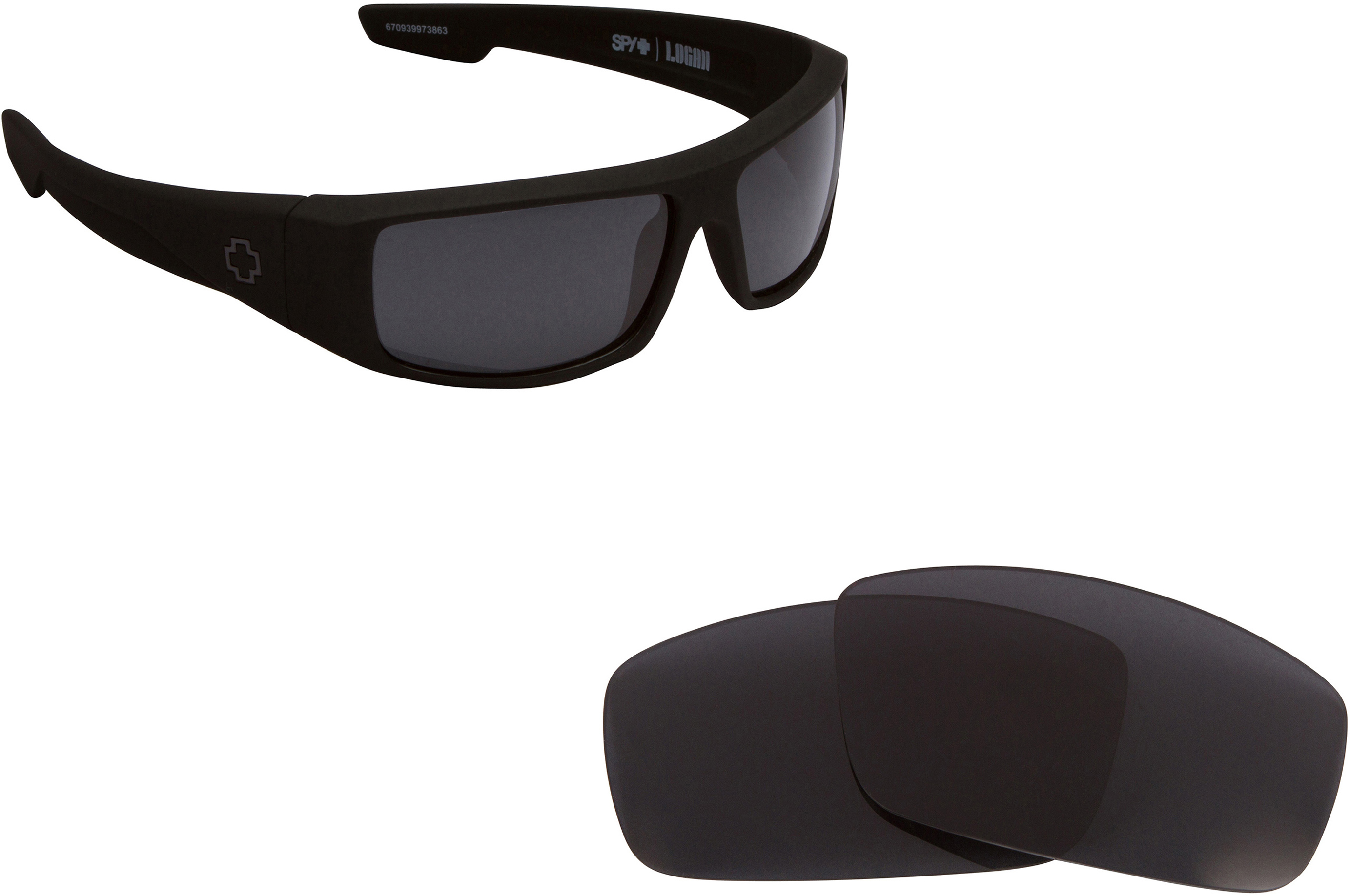 Replacement Lenses Compatible with SPY OPTICS LOGAN Polarized Silver Mirror
