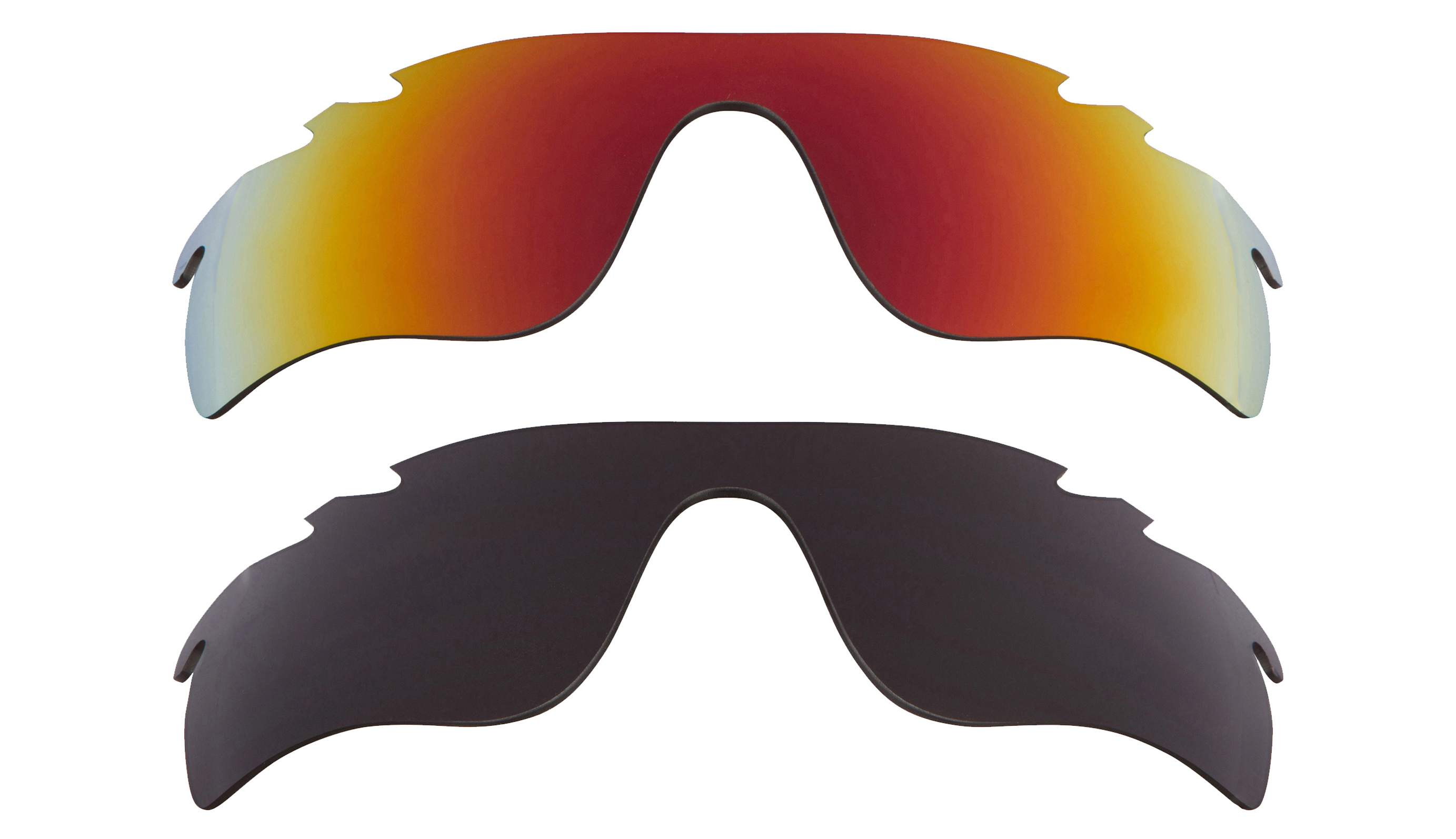 bfb10cc437 Details about Vented Radarlock Path Replacement Lenses Black   Ruby Red by SEEK  fits OAKLEY
