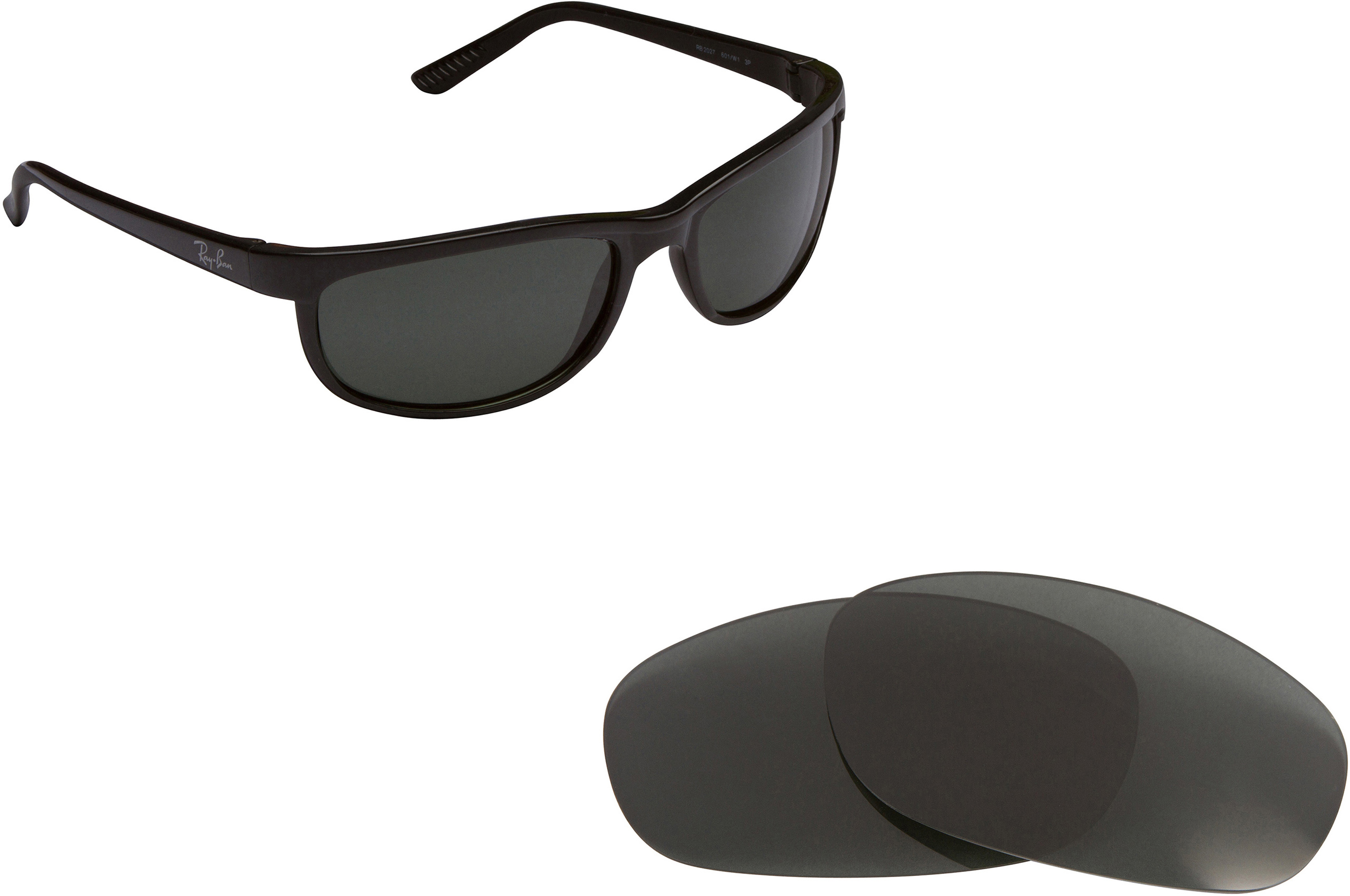 0e237d4e56 RB Predator 2027 Replacement Lenses by SEEK OPTICS to fit RAY BAN ...