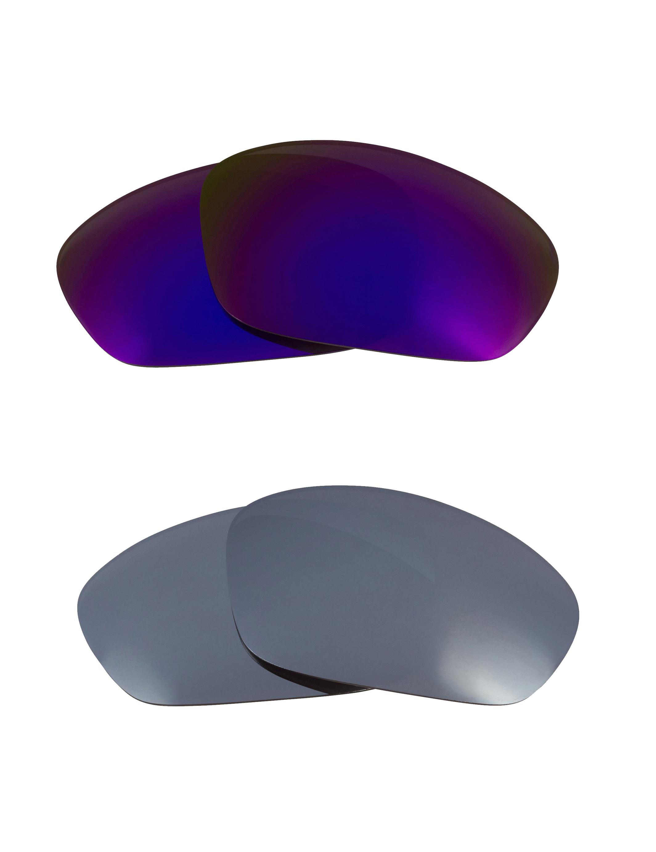 82618e26236 Oakley Monster Pup - Polarized REVO Metallic Silver Mirror   REVO Deep  Purple Mirror - Seek Optics