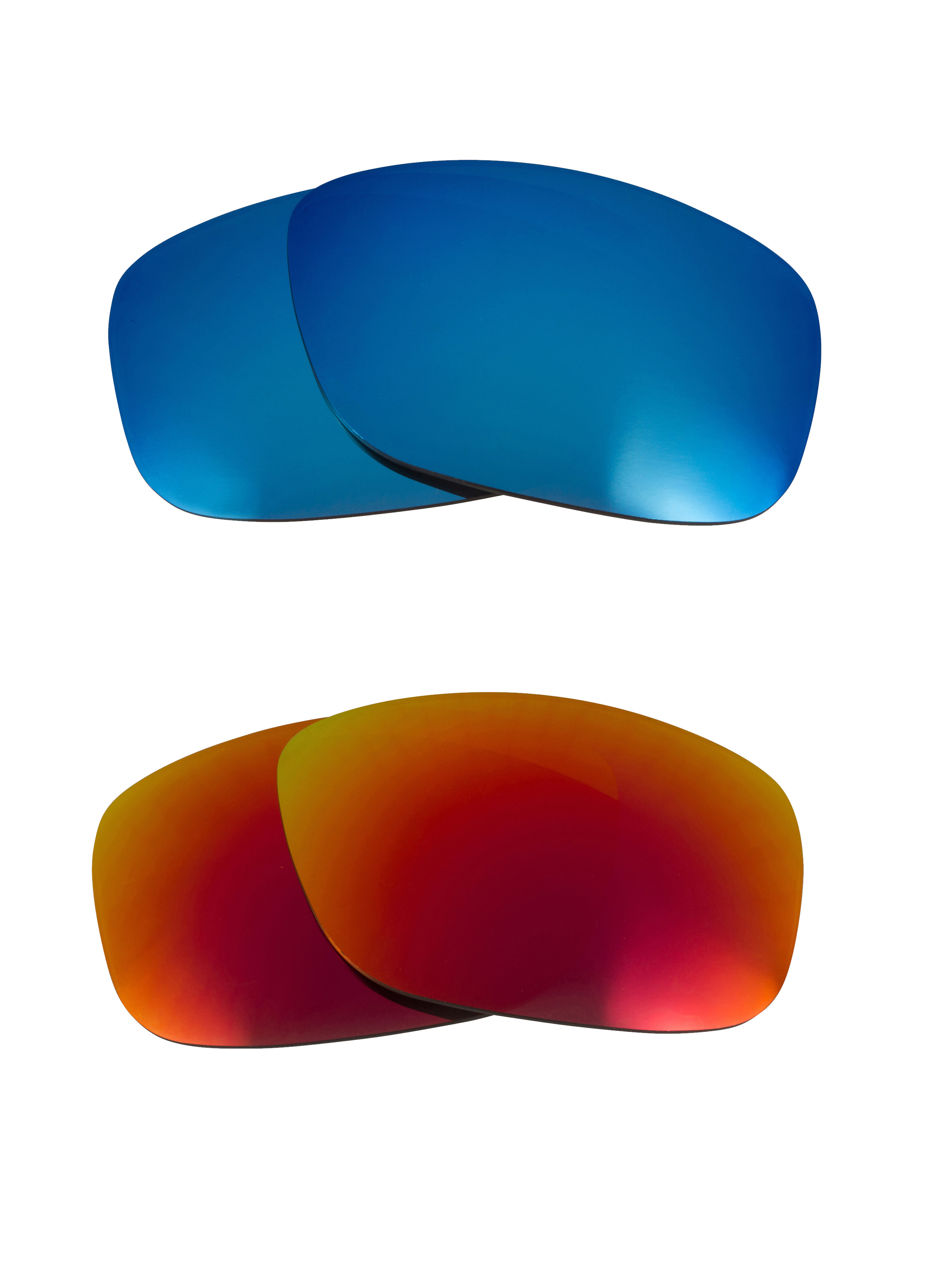 388ed53553 Details about Best SEEK Polarized Replacement Lenses for Oakley MOONLIGHTER  Red Blue Mirror