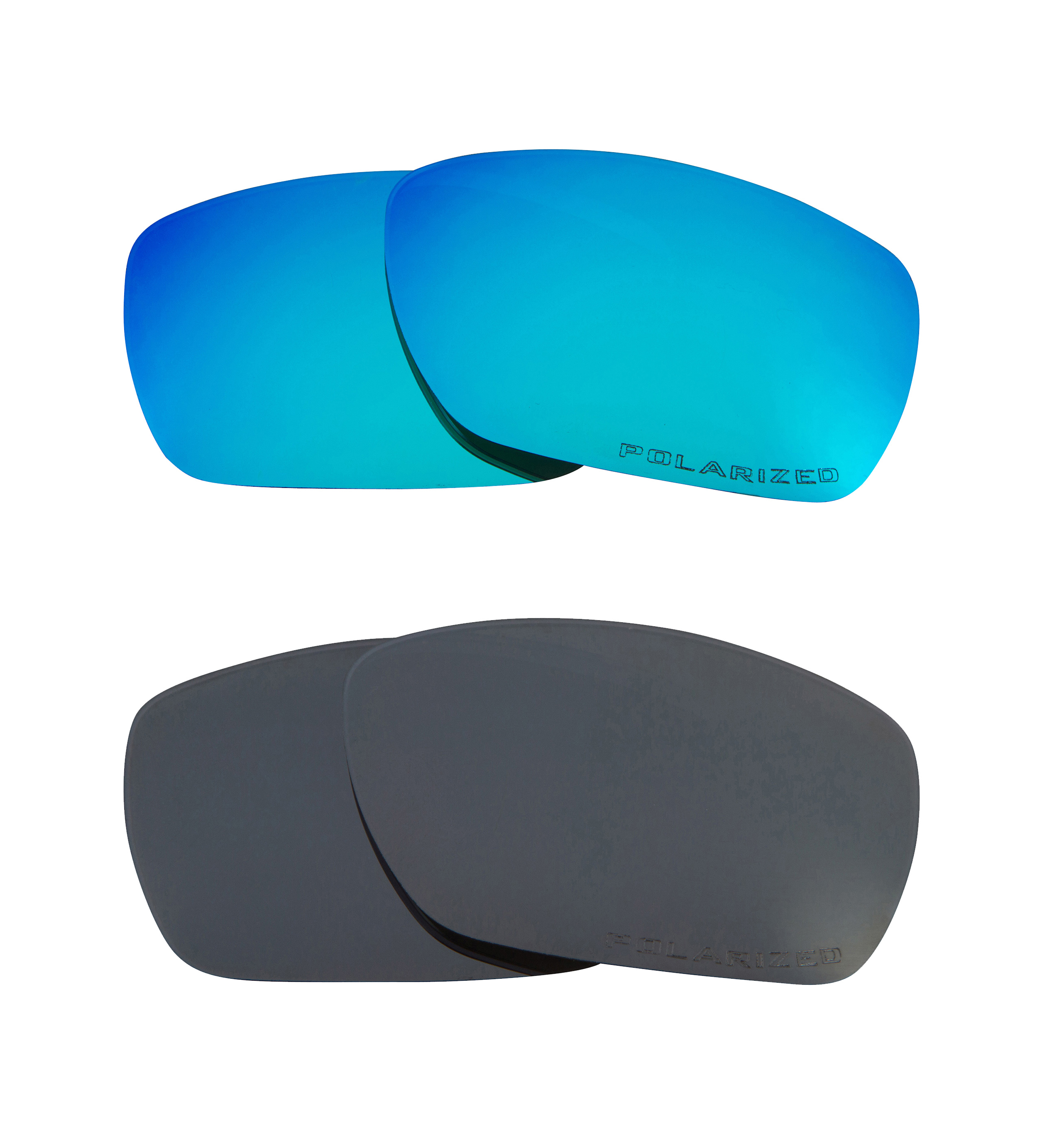 890f9e4ba61 TINFOIL Replacement Lenses Polarized Blue   Black Iridium by SEEK fits  OAKLEY