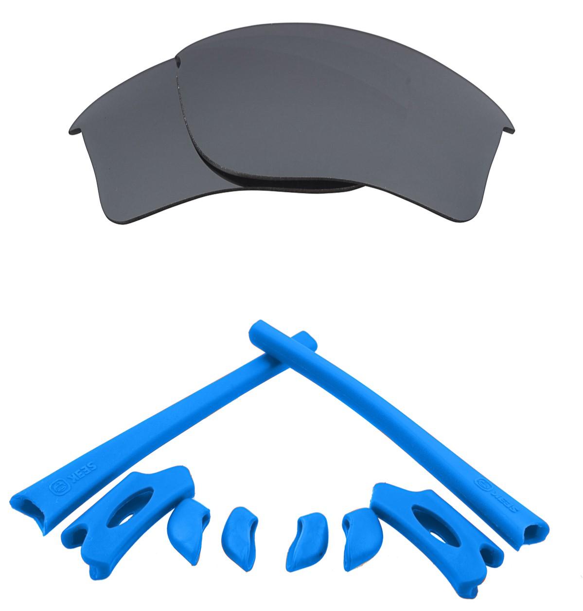 a2add64ca8 Seek Optics FLAK JACKET XLJ Lenses Accessories Kit Black Iridium Blue by  SEEK fits OAKLEY