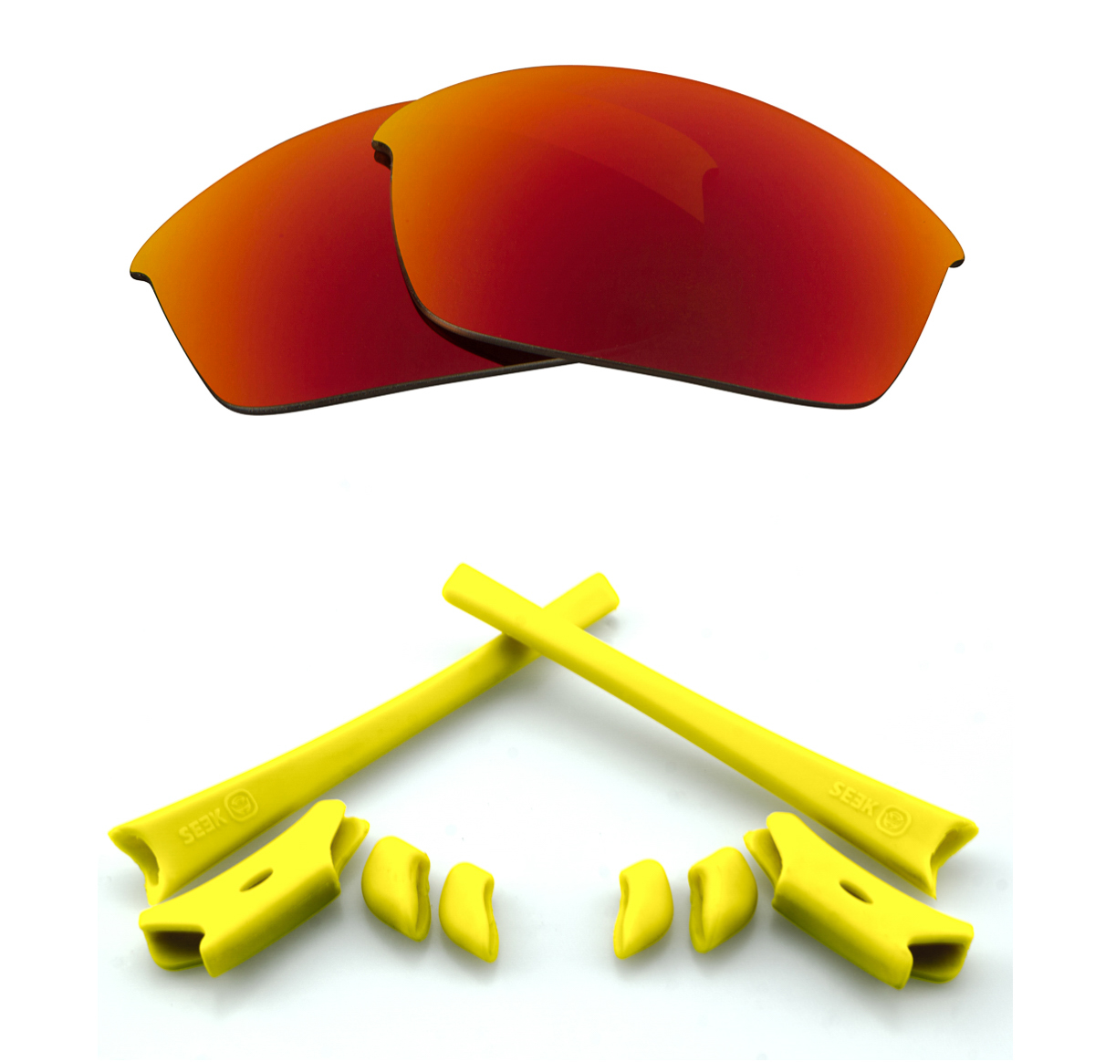 4391b0fbf7 Image is loading FLAK-JACKET-Polarized-Lenses-Accessories-Kit-Red-Mirror-