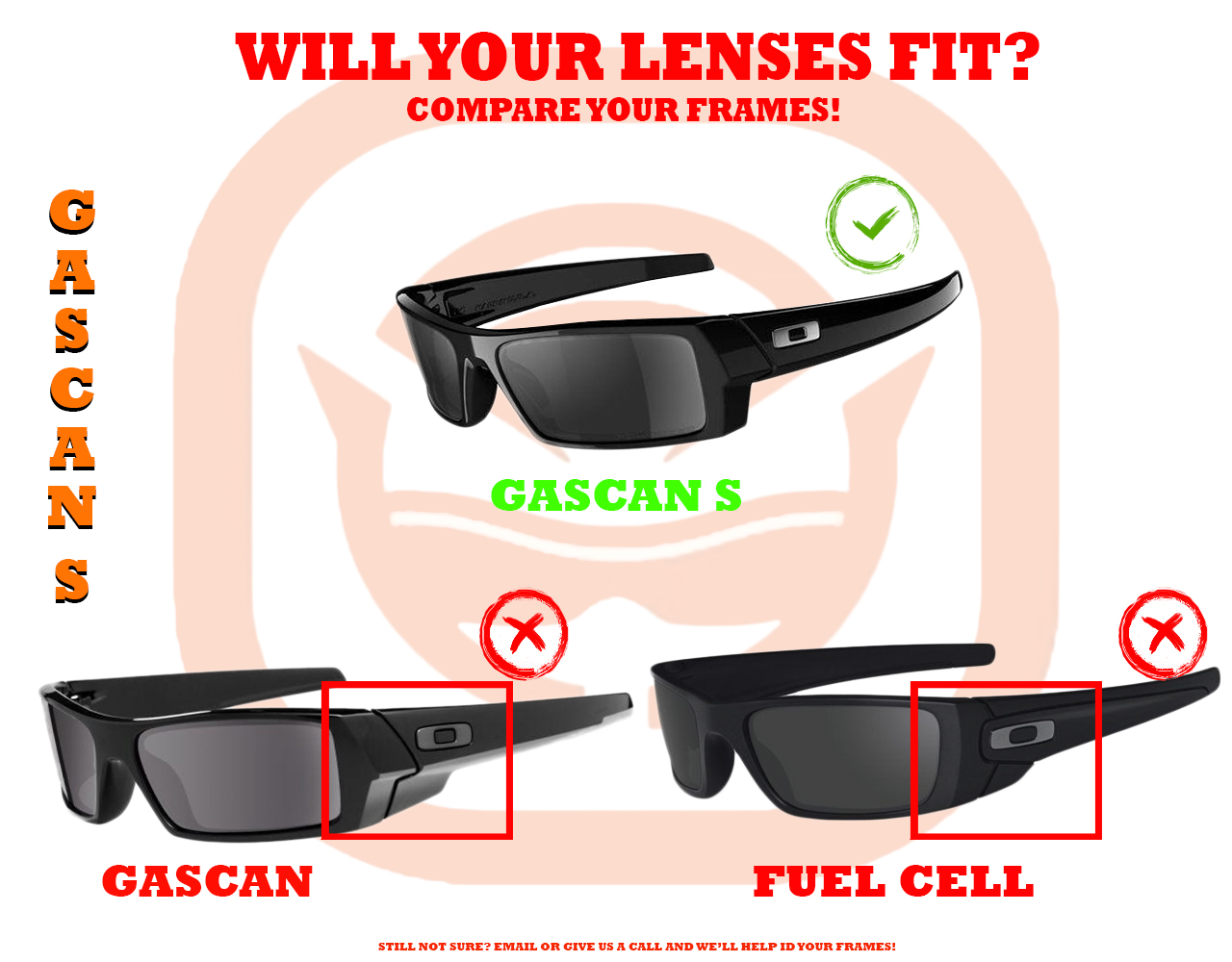9ed2f9717f Gascan S Replacement Lenses by SEEK OPTICS to fit OAKLEY Sunglasses ...