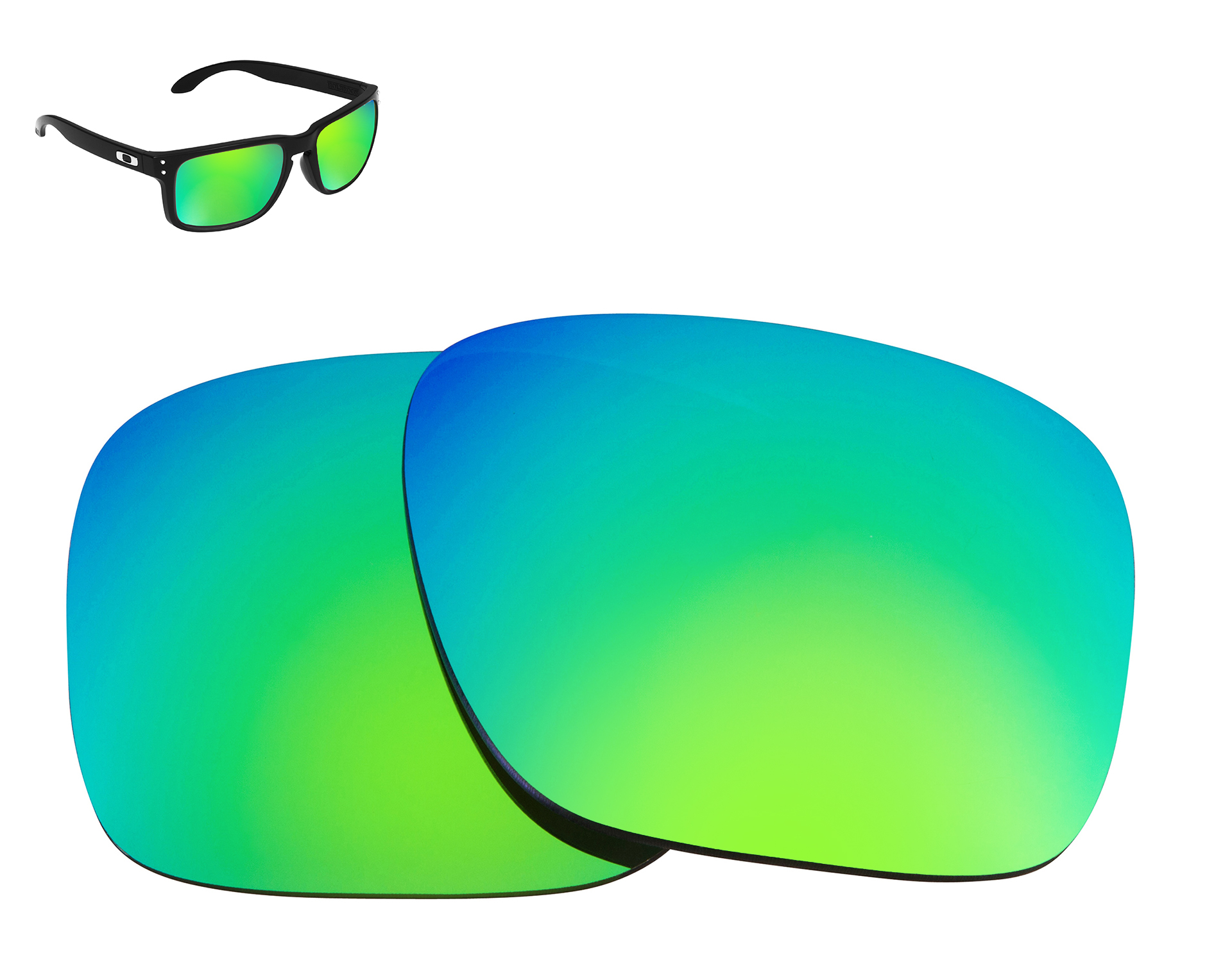 bb1867e283 HOLBROOK Replacement Lenses Green Mirror by SEEK fits OAKLEY ...