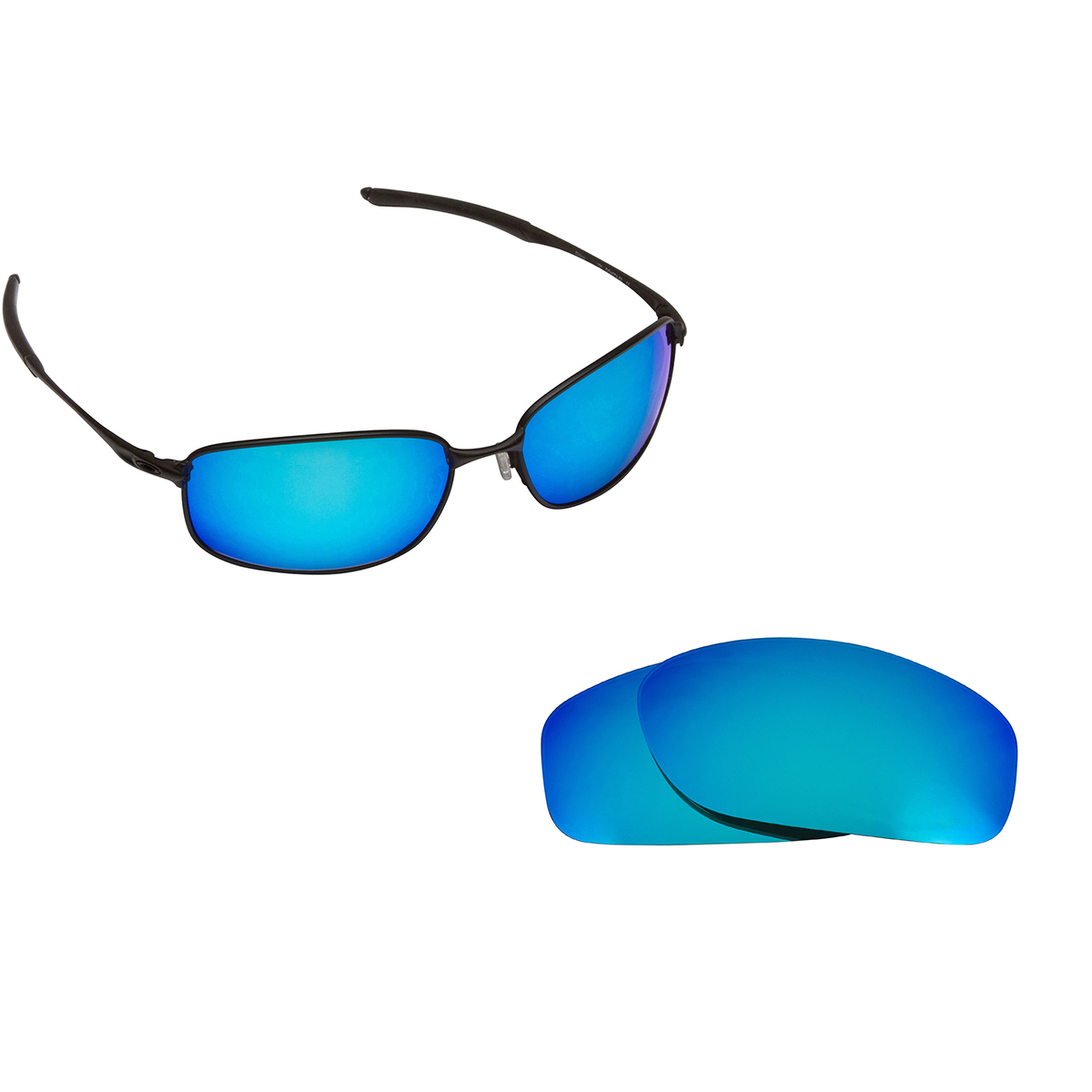 0c88a55a6e TAPER Replacement Lenses Polarized Blue   Red by SEEK fits OAKLEY ...