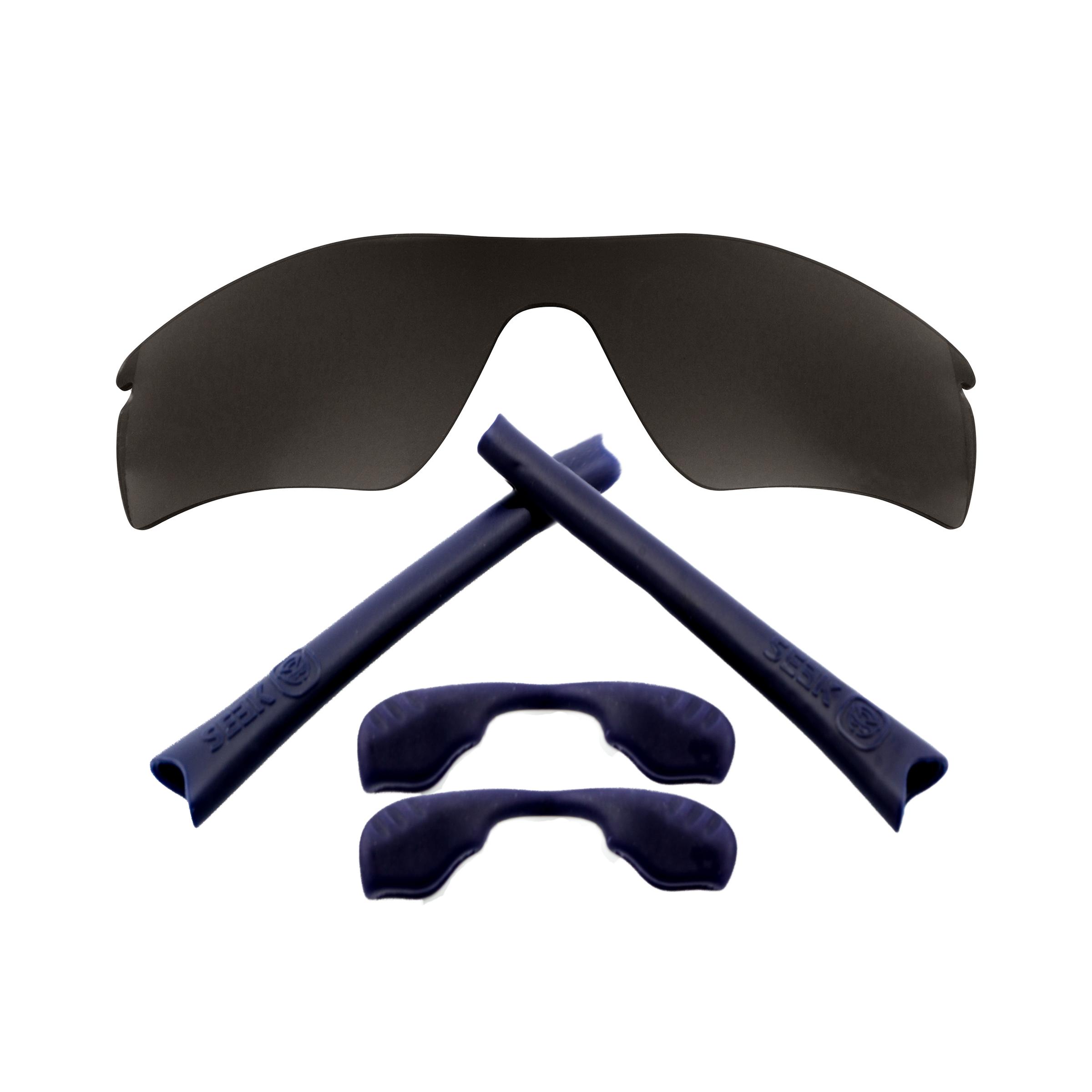 Sonnenbrillen Streng Radar Path Gläser Zubehörset Schwarz Iridium Navy Blau Von Seek Passt Oakley Quell Sommer Durst