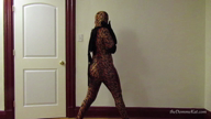 "Tiger Zentai Striptease [1080] with Katarina ""theDommeKat"" Pierce"