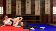 Tap-out wrestling - Constance & TerraMizu