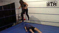 Mixed Wrestling: 2 on 1 Allie Parker & Jennifer Thomas vs Male Victim