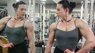 gym posing