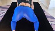 BLUE SPANDEX ASS