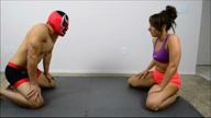 SEMI-COMP MIXED WRESTLING: Allie Parker vs Masked Man