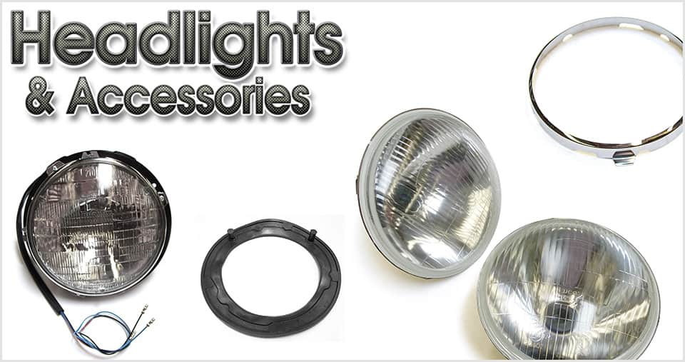 Classic Mini headlights and accessories