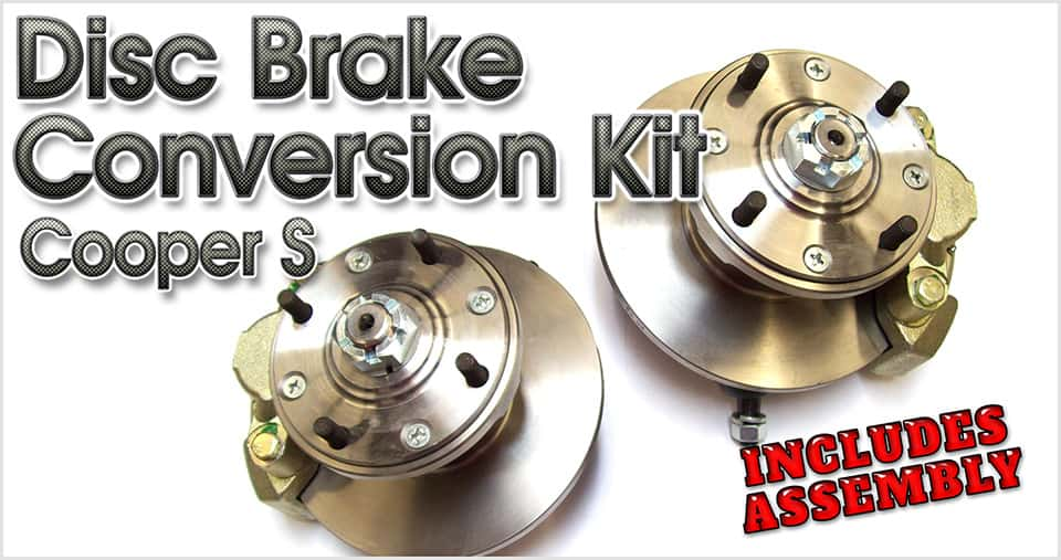 Disc brake conversion for the classic Mini