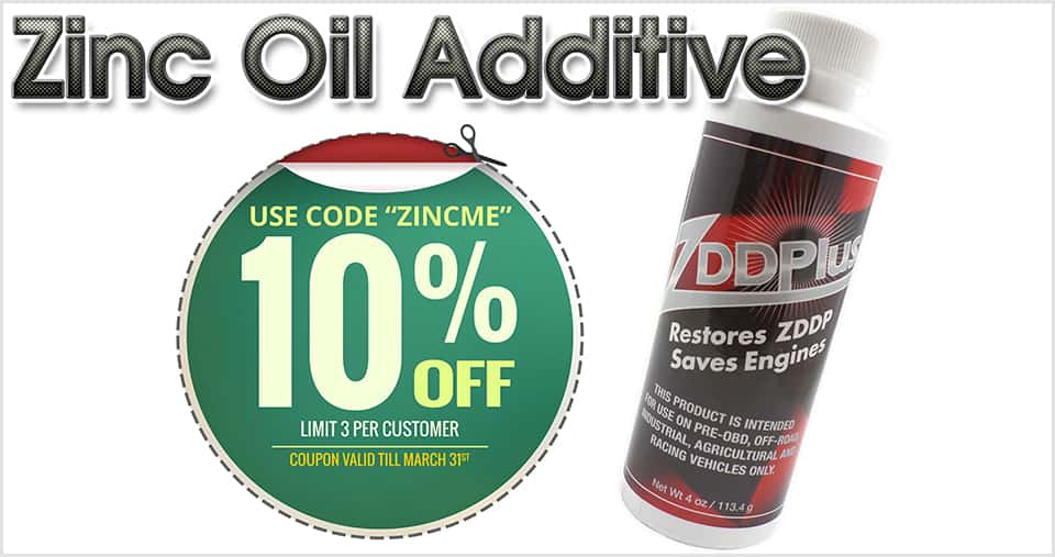 Zinc Oil Additive - save 10% today!