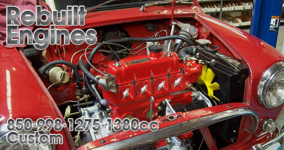 Rebuilt Classic Mini Engines