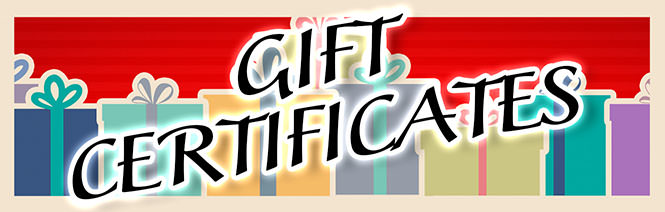 Gift certificates fit any classic Mini occasion!