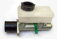 Horizontal brake master cylinder