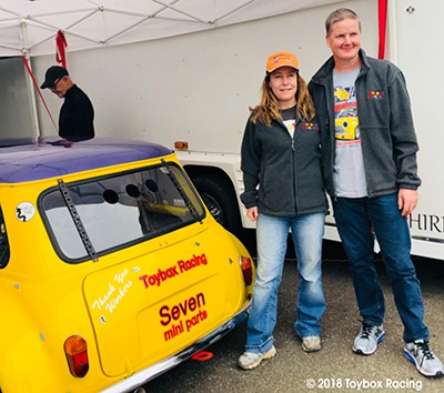 Rachel and Andy Nelson, with the yellow Fortech Mini