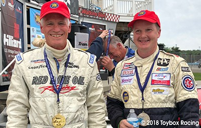 Doug Peterson (l) and Andy Nelson (r), at the 2018 Watkins Glen Mini Festival