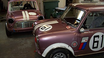 """Purple People Eater"" team car restoration"