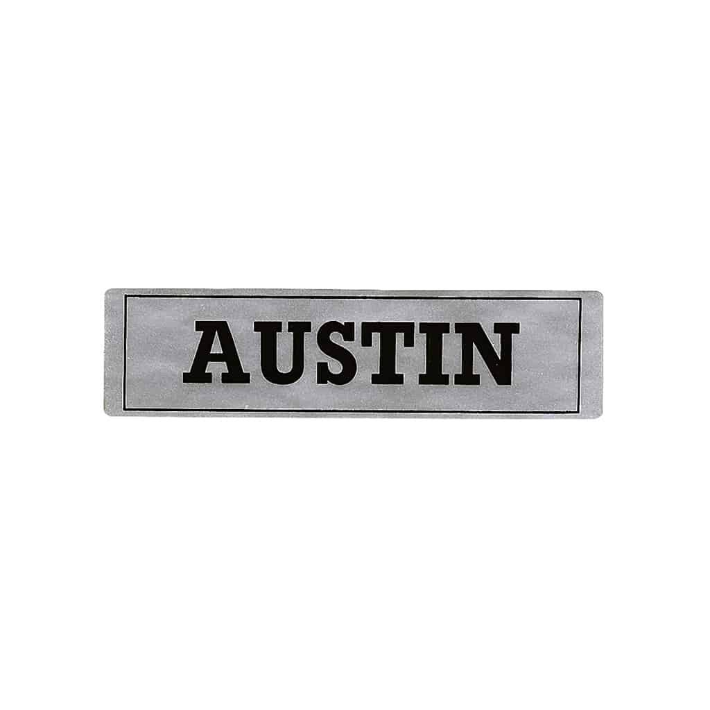 Valve Cover Sticker, ''Austin''