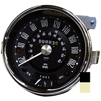 Speedometer, Cooper S, 200kph, Smiths, Black