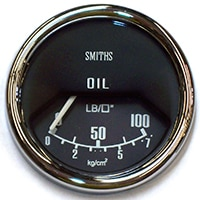 Oil Pressure Gauge, Mk2-on, Smiths, Black