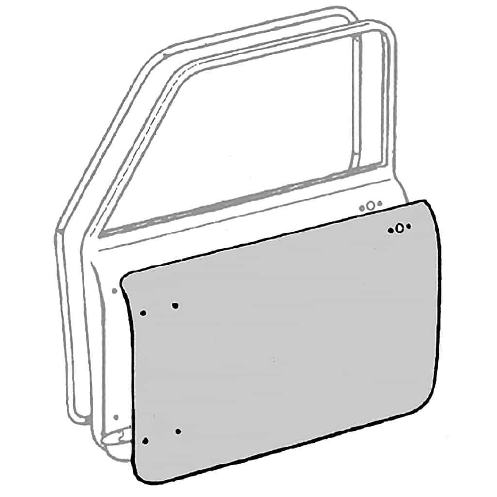 Door Skin, Mk1-Mk2 (SBO0591/2) - SBO0591/2