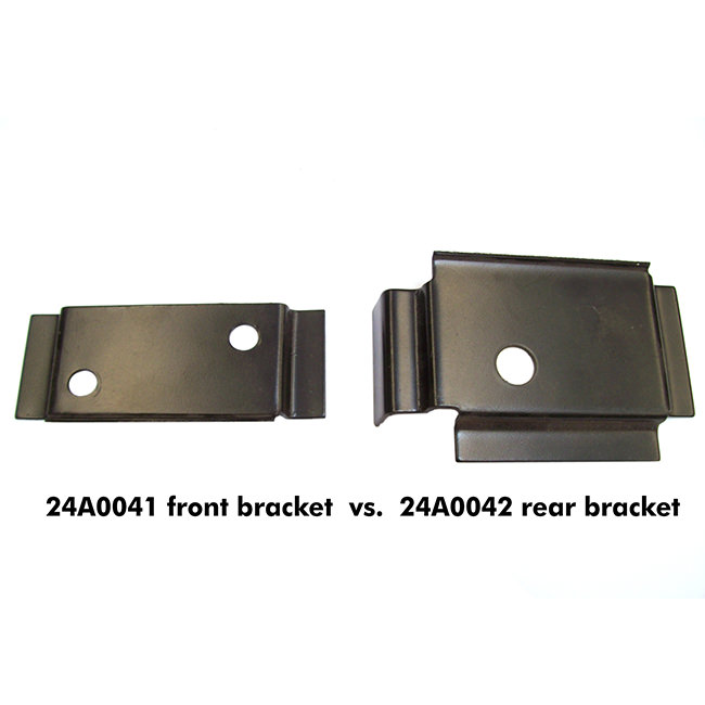 24A0041 front bracket, compared to 24A0042 rear right bracket