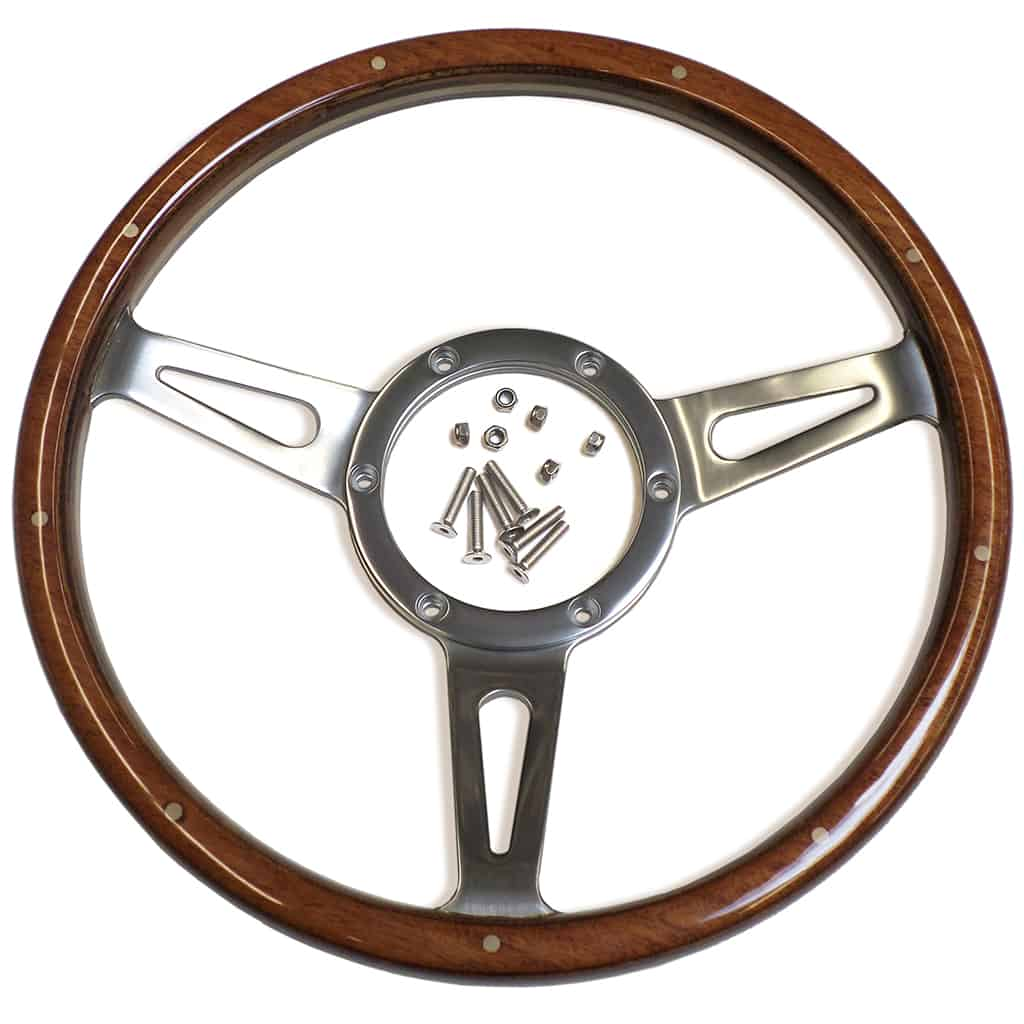 "Steering Wheel, 13"", Classic Wood"