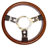"Steering Wheel, 13"" Wood Rim"