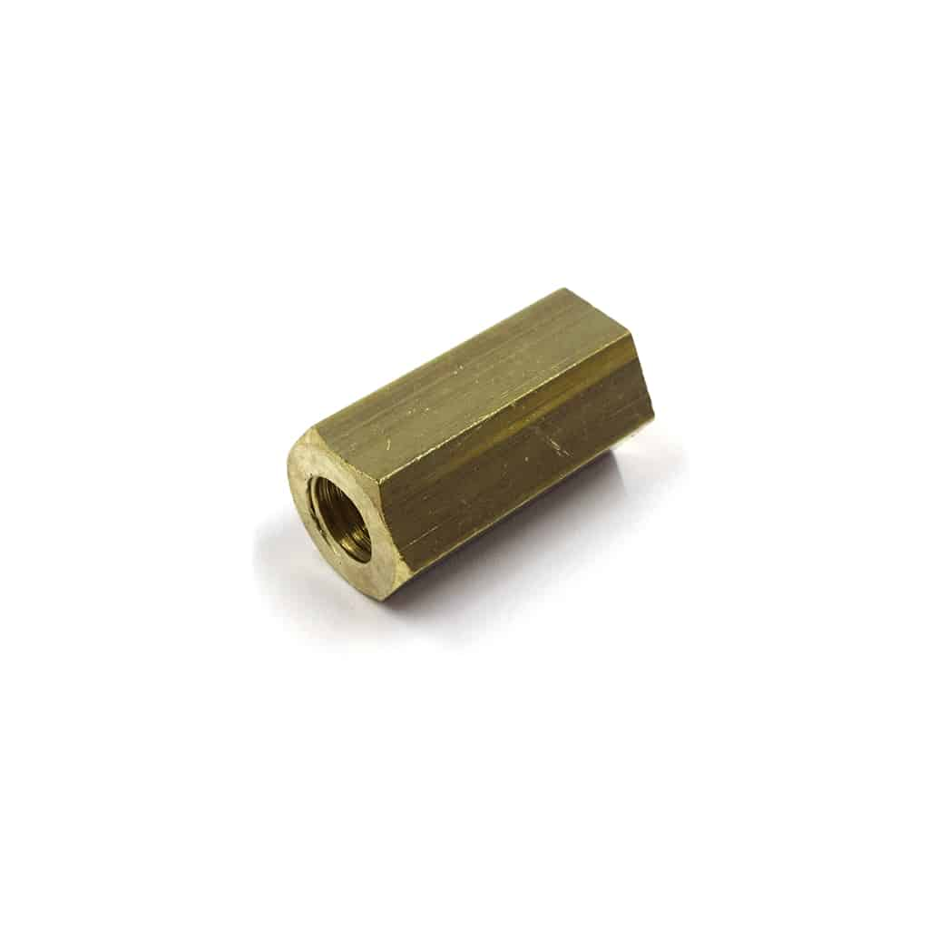 Manifold Nut, Brass, Long