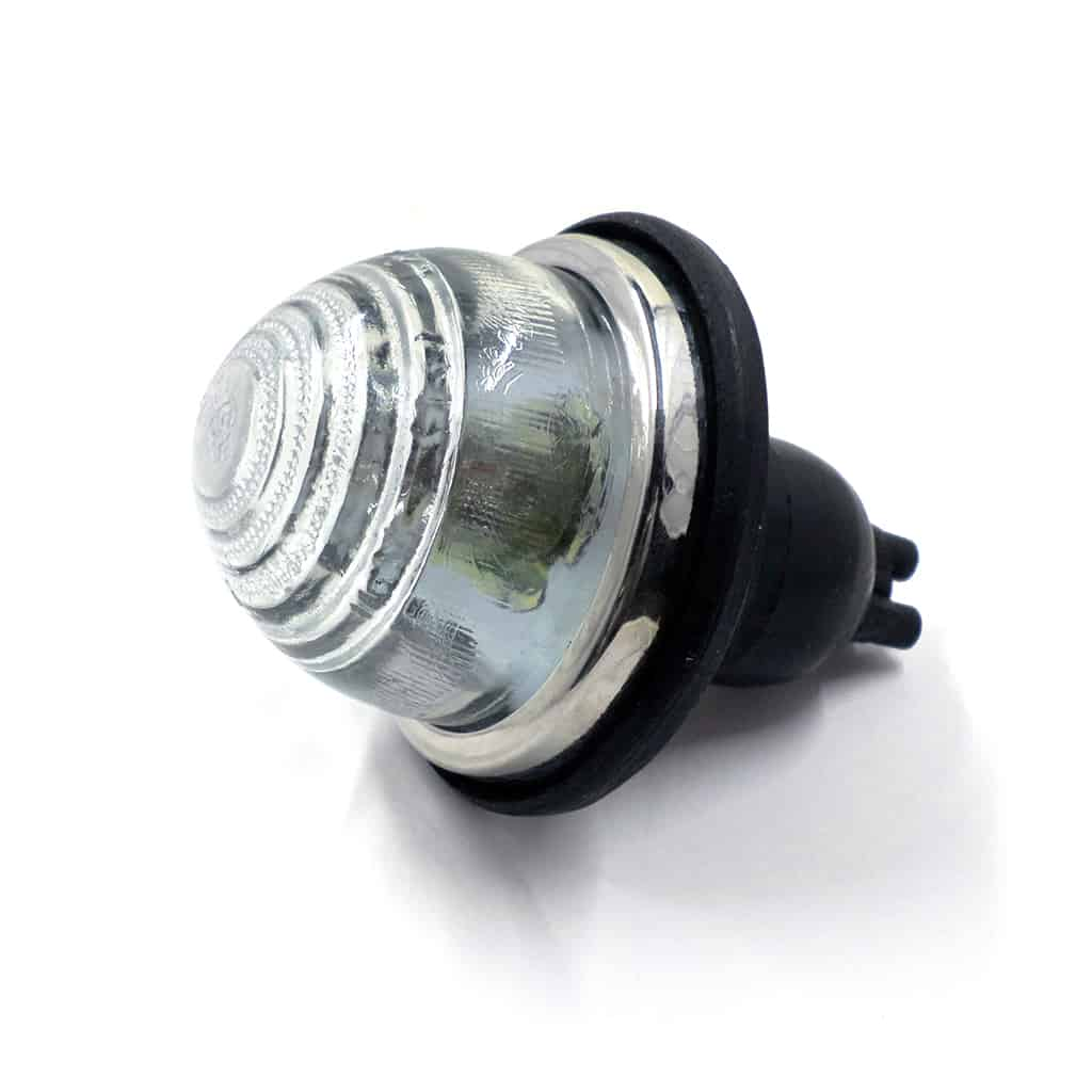 Front Turn Indicator Lamp, glass lens, dual function