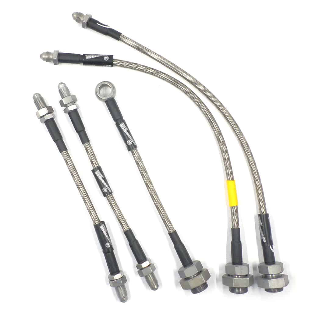 Braided Stainless Brake Hose Set, 5-piece, Verto clutch