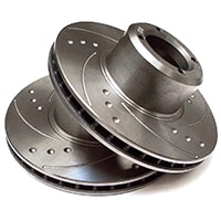 Brake Rotors, Turbo Metro, Vented, Dimpled & Slotted, Pair
