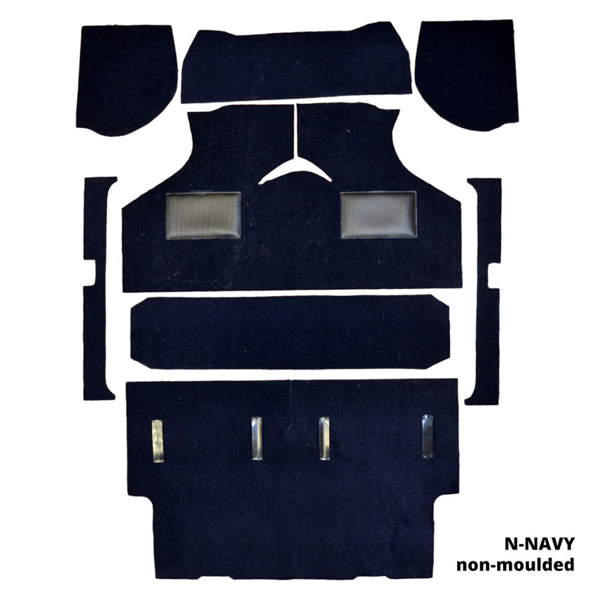 Carpet set in (N) Navy, non-moulded
