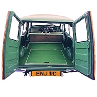 Rear Carpet Set, Estate to 1966