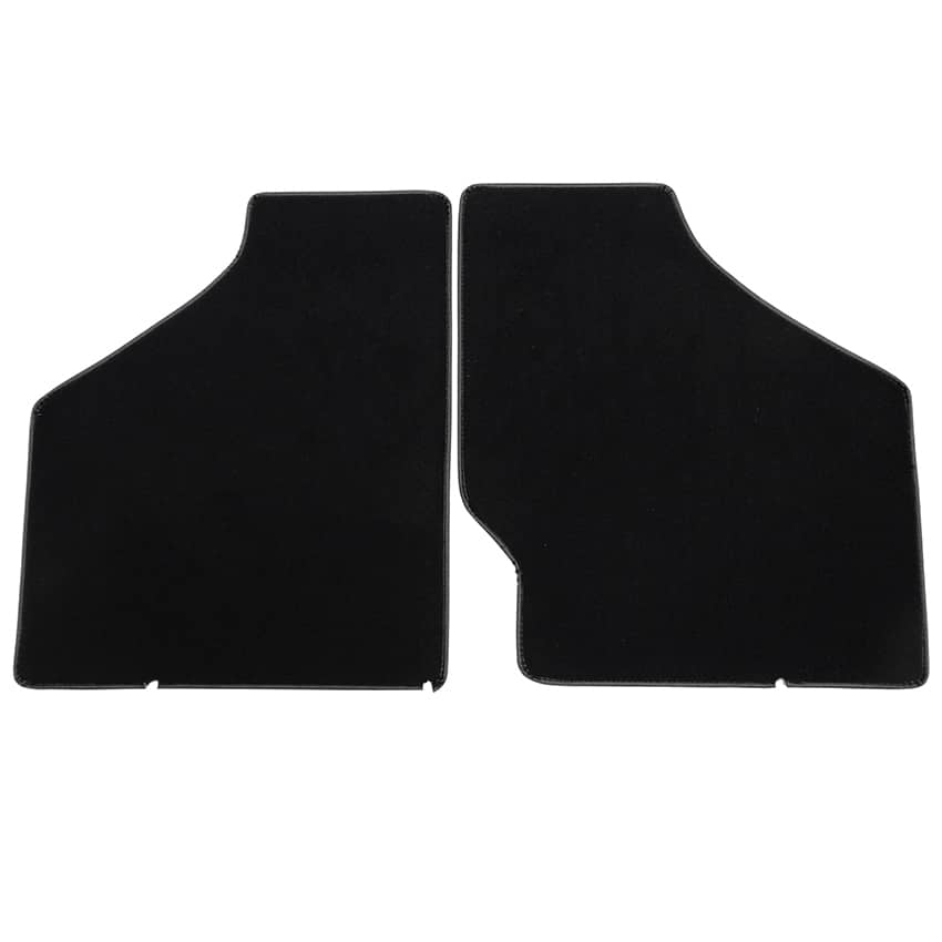 Floor Mat Set, 2-piece Deluxe, 1959-1973, Black