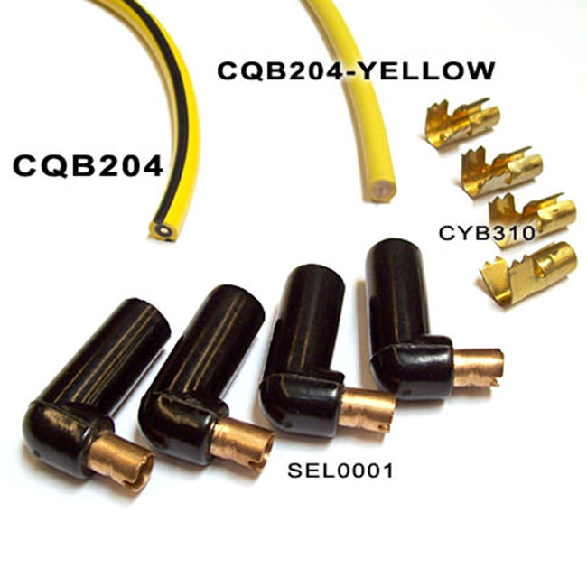 Ignition Wire, Solid Core, Lucas Yellow (CQB204-YELLOW) - CQB204-YELLOW
