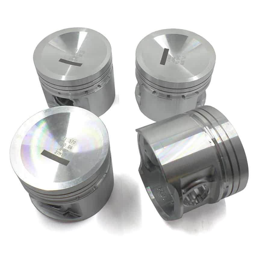 Piston Set, 1275cc, Offset Dish